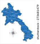 laos map | Shutterstock .eps vector #273681479