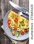omelette with vegetables | Shutterstock . vector #273681620
