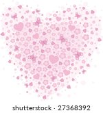 pink floral background | Shutterstock . vector #27368392