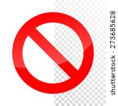 banned sign | Shutterstock .eps vector #273685628