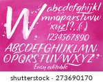 modern alphabet set drawn... | Shutterstock .eps vector #273690170