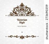 vector floral vignette in... | Shutterstock .eps vector #273690359