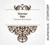 vector floral vignette in... | Shutterstock .eps vector #273690389