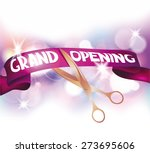 grand opening cards with... | Shutterstock .eps vector #273695606