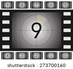 vector old film countdown with... | Shutterstock .eps vector #273700160