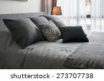 stylish bedroom interior design ... | Shutterstock . vector #273707738