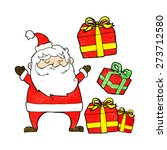 cartoon santa claus with... | Shutterstock .eps vector #273712580