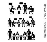 coworkers talking and working ... | Shutterstock .eps vector #273719660