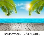Vacation Background. Beach Wit...