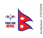 pray for nepal. earthquake  | Shutterstock .eps vector #273723458
