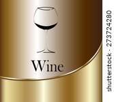wine glass concept menu design. ...   Shutterstock .eps vector #273724280