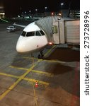 parked aircraft   at night | Shutterstock . vector #273728996