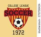 soccer logo typography  t shirt ... | Shutterstock .eps vector #273730424