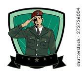 illustration of soldier... | Shutterstock .eps vector #273736004