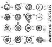 infographic elements  pie chart ... | Shutterstock .eps vector #273738560