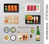 infographic japanese foods... | Shutterstock .eps vector #273741164