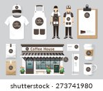 vector buildings restaurant and ... | Shutterstock .eps vector #273741980