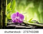 zen basalt stones  orchid and... | Shutterstock . vector #273743288