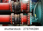 joints of big iron pipe of... | Shutterstock . vector #273744284