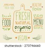 raw vegan badges. vector hand... | Shutterstock .eps vector #273746660