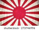 Japan Flag On Concrete Textured ...