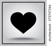 heart sign icon  vector... | Shutterstock .eps vector #273747266