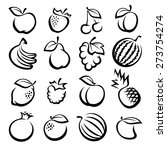 collection of fruits set.... | Shutterstock .eps vector #273754274