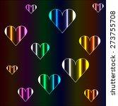cheerful neon hearts | Shutterstock .eps vector #273755708