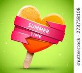 summer illustration with bright ... | Shutterstock .eps vector #273758108