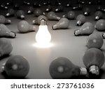 3d. light bulb  inspiration ... | Shutterstock . vector #273761036