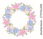 invitation card with floral... | Shutterstock .eps vector #273761330