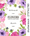 floral vector background with... | Shutterstock .eps vector #273761780