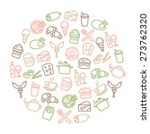 background with food icons  ... | Shutterstock .eps vector #273762320