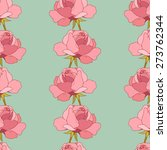 roses seamless pattern. floral... | Shutterstock .eps vector #273762344
