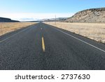 Straight Highway - stock photo