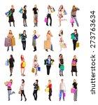 spending is fun presents bought  | Shutterstock . vector #273763634
