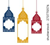colored hanging traditional... | Shutterstock .eps vector #273770576
