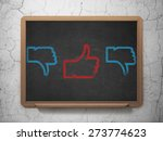 social media concept  row of... | Shutterstock . vector #273774623