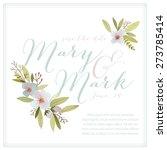 watercolor wedding template... | Shutterstock .eps vector #273785414