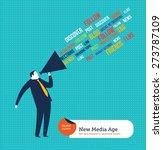 businessman with megaphone... | Shutterstock .eps vector #273787109