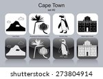 landmarks of cape town. set of... | Shutterstock .eps vector #273804914