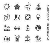 summer icons set. | Shutterstock .eps vector #273808049