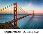 sunset view of the golden gate... | Shutterstock . vector #273811460