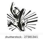 muay thai jump | Shutterstock .eps vector #27381361