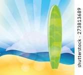 isolated surfboard on a colored ... | Shutterstock .eps vector #273813689