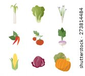 garden fresh vegetables set on... | Shutterstock .eps vector #273814484