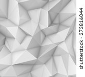 White abstract low-poly, polygonal triangular mosaic background for web, presentations and prints. Vector illustration. Realistic 3D design template. | Shutterstock vector #273816044