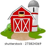 illustration of a farm | Shutterstock .eps vector #273824369