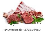 chop  meat  lamp. | Shutterstock . vector #273824480