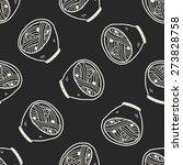 doodle noodle seamless pattern...   Shutterstock .eps vector #273828758